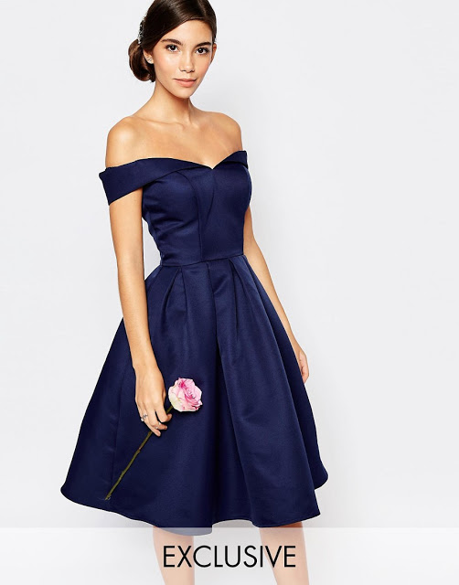 http://www.asos.com/Chi-Chi-London/Chi-Chi-London-Midi-Prom-Dress-with-Full-Skirt-and-Bardot-Neck/Prod/pgeproduct.aspx?iid=6265545&cid=15156&sh=0&pge=1&pgesize=36&sort=-1&clr=Navy&totalstyles=357&gridsize=3