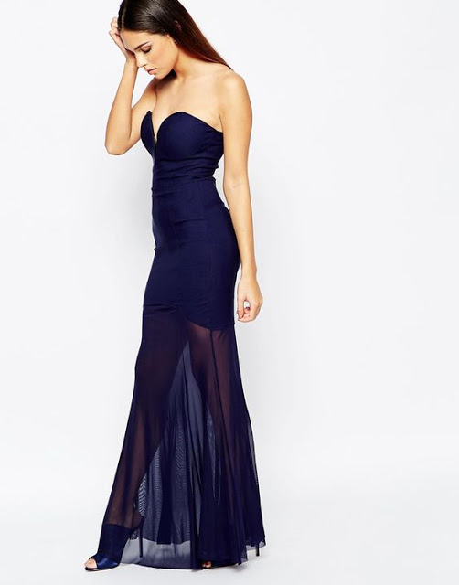 http://www.asos.com/Rare/Rare-Fishtail-Maxi-Dress-with-Sheer-Skirt/Prod/pgeproduct.aspx?iid=6010560&cid=5235&Rf1012=4461&sh=0&pge=10&pgesize=36&sort=-1&clr=Navy&totalstyles=1420&gridsize=3
