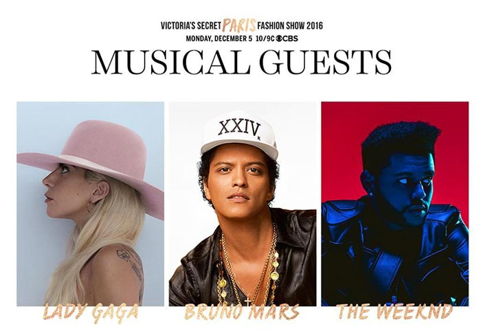 Victoria's Secret Fashion Show 2016 Model & Musical Guest Lineup