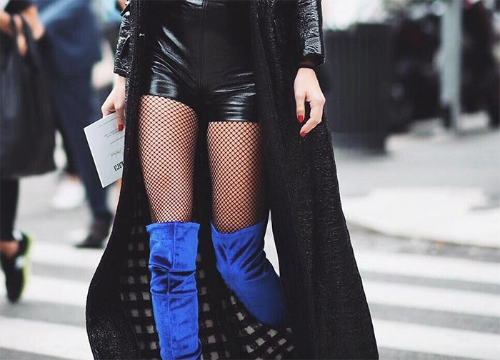 Style Tips for Wearing Fishnets with Shorts