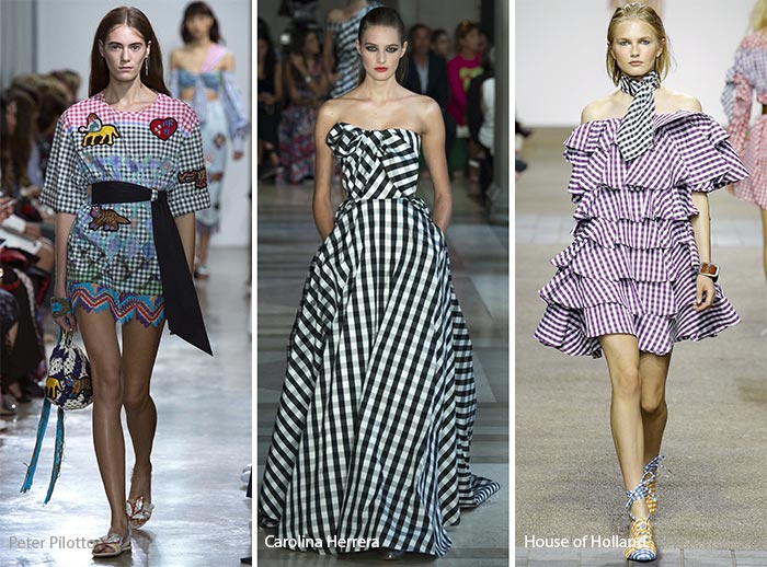 Spring/ Summer 2017 Print Trends: Gingham Patterns