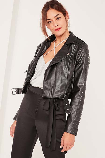 Trendy Moto Jackets for 2016-2017: Caroline Receveur Biker Jacket