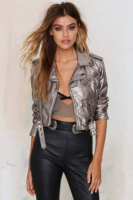 Trendy Moto Jackets for 2016-2017: Nasty Gal Metallic Biker Jacket
