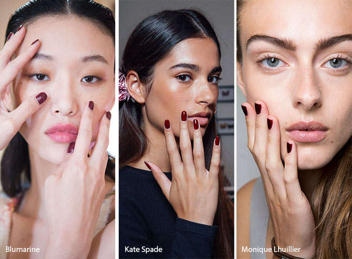 Spring/ Summer 2017 Nail Trends: Burgundy Nail Polish