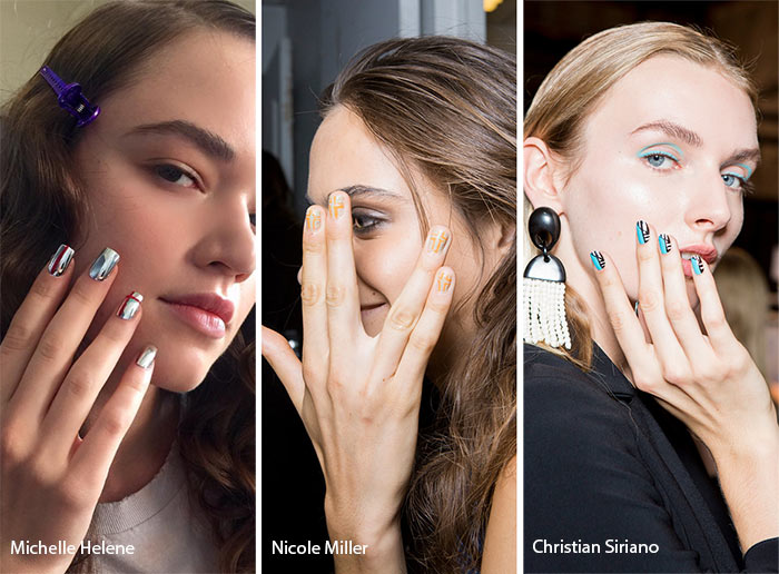 Spring/ Summer 2017 Nail Trends: Striped & Geometric Nail Art