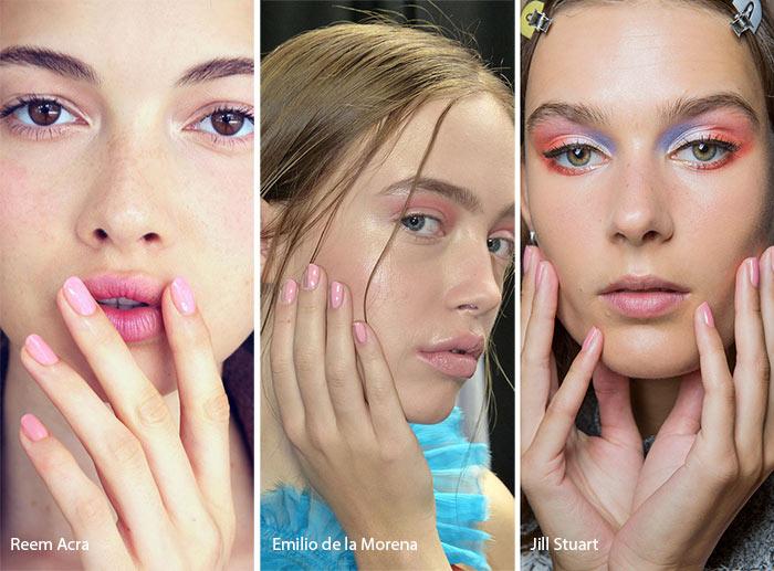 Spring/ Summer 2017 Nail Trends: Pink Nail Polish