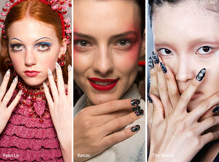 Spring/ Summer 2017 Nail Trends: Bejeweled Nails
