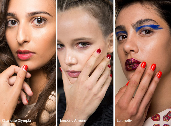 Spring/ Summer 2017 Nail Trends: Red Nail Polish
