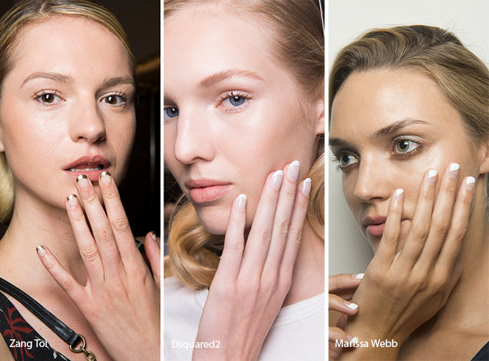 Spring/ Summer 2017 Nail Trends: Modern French Manicure