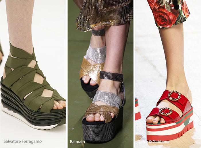Spring/ Summer 2017 Shoe Trends: Flatform Shoes