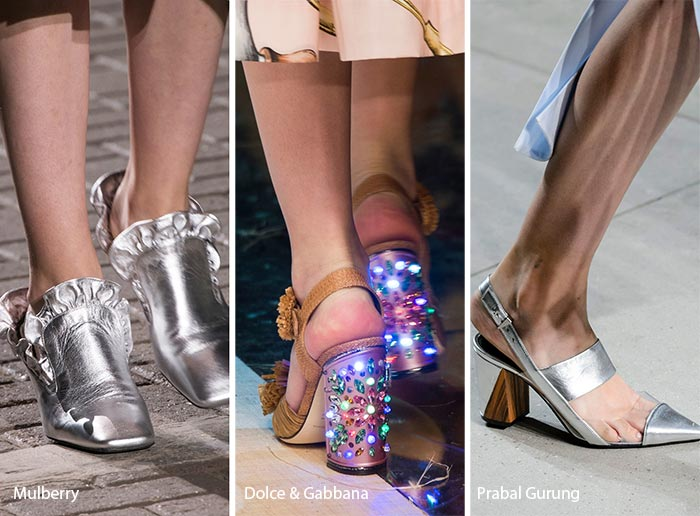 Spring/ Summer 2017 Shoe Trends: Metallic & Shiny Shoes