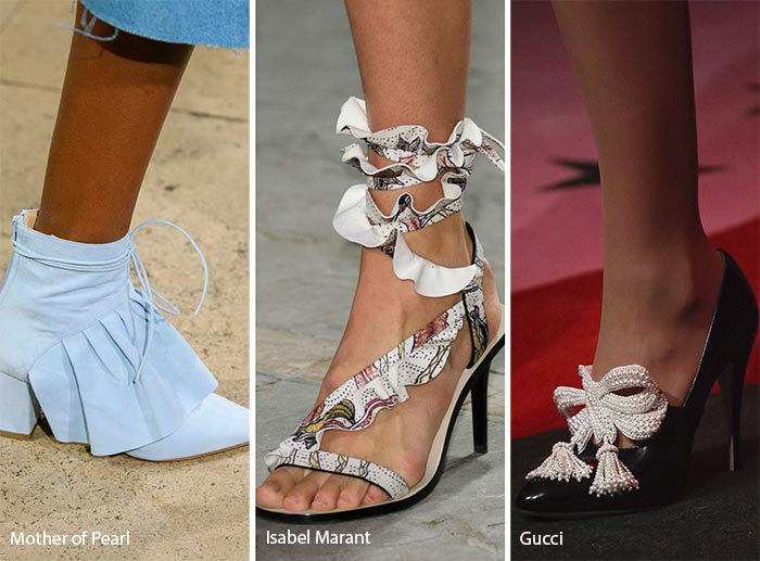 Spring/ Summer 2017 Shoe Trends: Ruffles, Bow & Feather Embellished Shoes