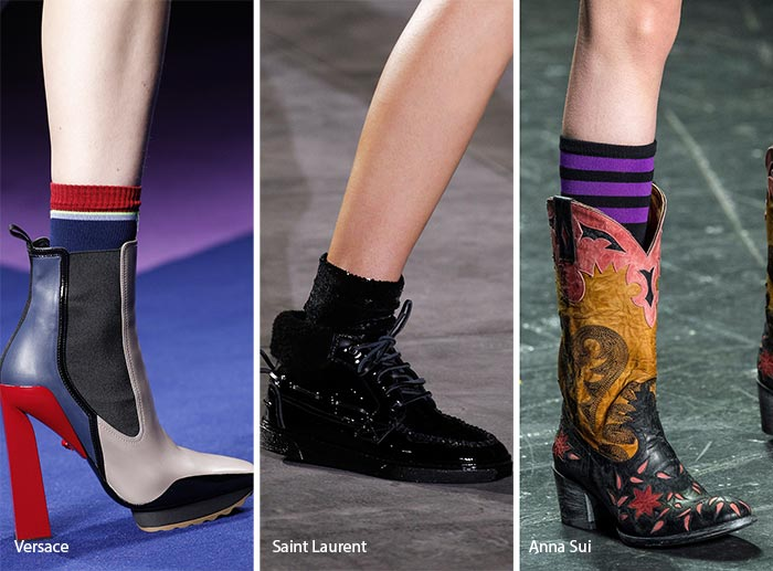 Spring/ Summer 2017 Shoe Trends: Boots with Socks