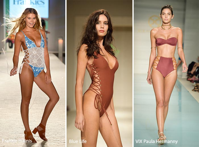Spring/ Summer 2017 Swimwear Trends: Swimsuits/ Bikinis with Laced Sides