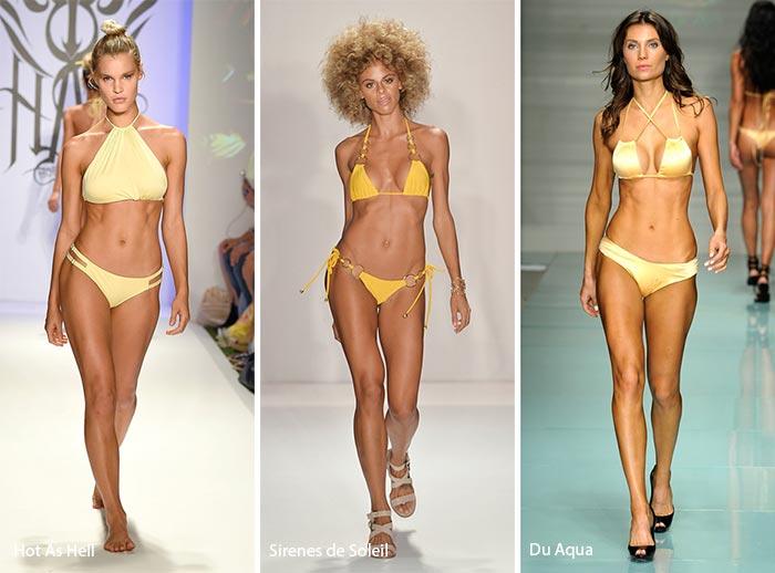 Spring/ Summer 2017 Swimwear Trends: Yellow Swimsuits/ Bikinis
