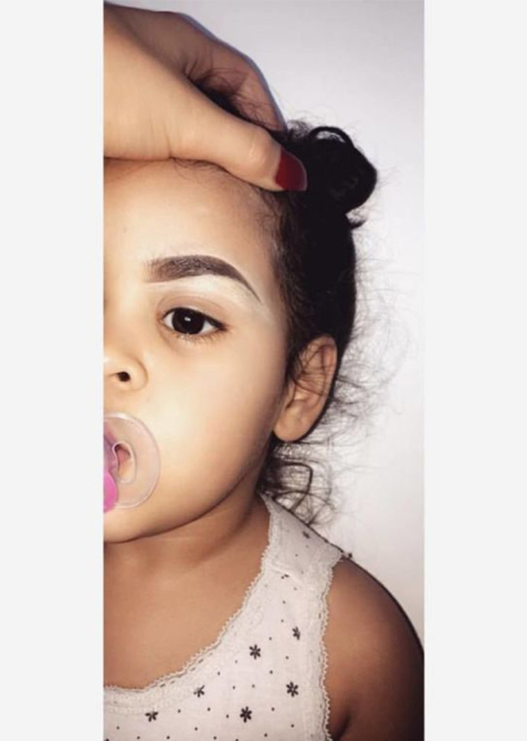 Amalia Bass Toddler Eyebrows