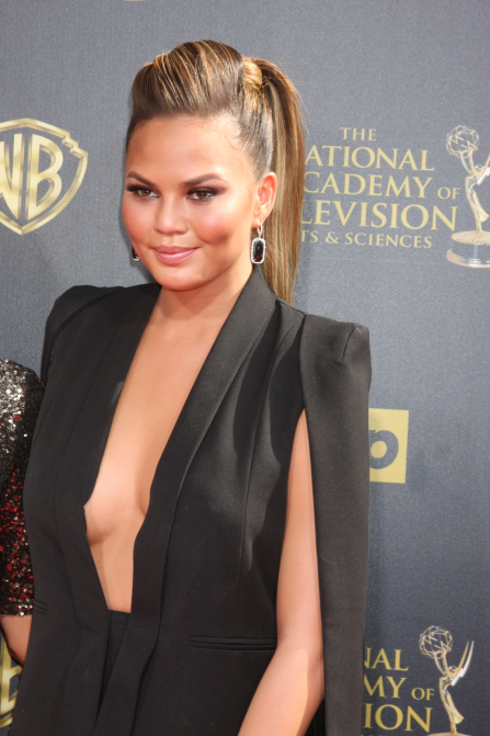 Daytime Emmy Awards 2015 Arrivals Featuring: Chrissy Teigen, Christine Teigen Where: Burbank, California, United States When: 26 Apr 2015 Credit: Nicky Nelson/WENN.com