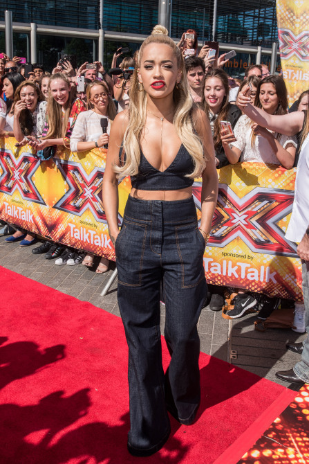 X Factor auditions at the Wembley Arena - Arrivals. Featuring: Rita Ora Where: London, United Kingdom When: 19 Jul 2015 Credit: Daniel Deme/WENN.com