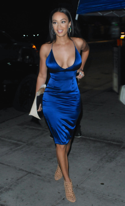 Draya Michele and Orlando Scandrick arrive at Mastro's Steakhouse Featuring: Draya Michele Where: Los Angeles, California, United States When: 07 Feb 2015 Credit: MONEY$HOT/WENN.com