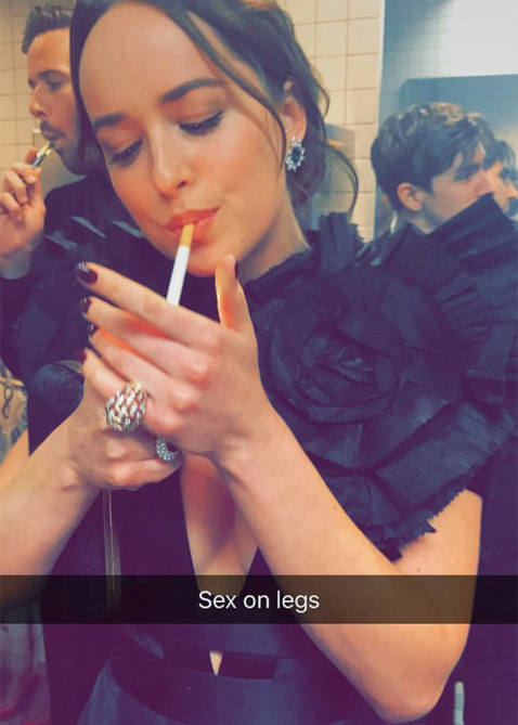 dakota johnson smoking Celebrities Smoking In The Bathroom at the Met Gala Is All of Us—In High School