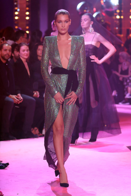 bella hadid alexandre vauthier Bella Hadid and Cara Delevingne Wore the Exact Same Dress