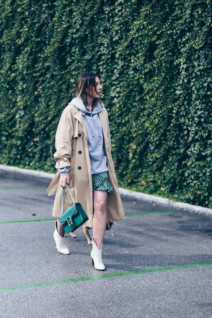 Schön Stiefeletten Kombinieren Foto Von Look – Herbst Outfit Mit Wickelkleid Und