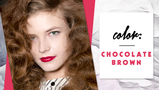 STYLECASTER | Simple Hair Color Chart for Every Shade | Chocolate Brown