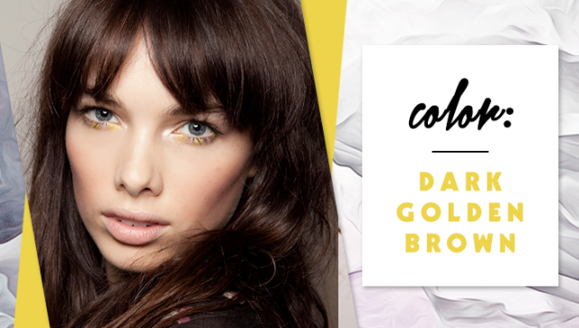 STYLECASTER | Simple Hair Color Chart for Every Shade | Dark Golden Brown