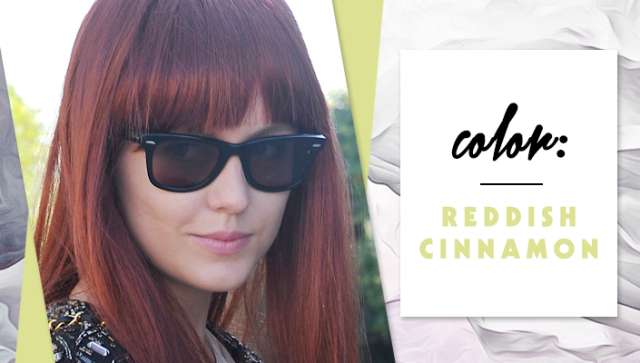 STYLECASTER | Simple Hair Color Chart for Every Shade | Reddish Cinnamon