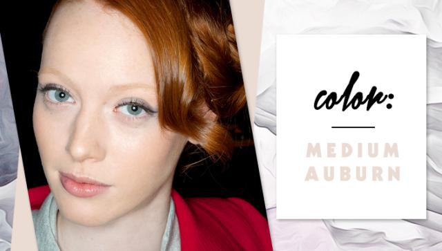 STYLECASTER | Simple Hair Color Chart for Every Shade | Medium Auburn