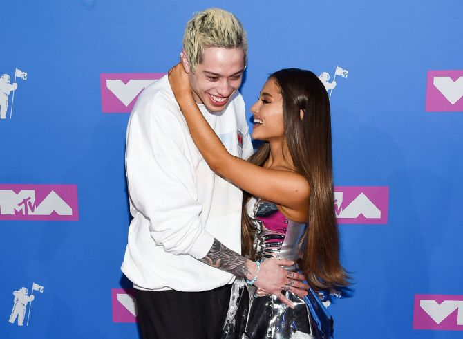 ariana grande pete davidson together Pete Davidson Changed His Ariana Grande Tattoo to Cursed & Fans Are Wondering if It Was Shade