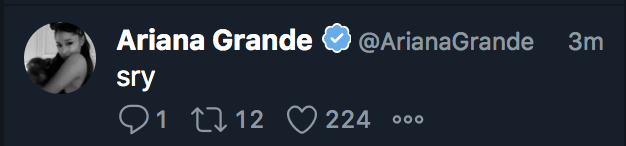 ariana grande deleted grammy tweets.png How Ariana Grande Paid Tribute to Mac Miller with Her Dress on Grammys Night