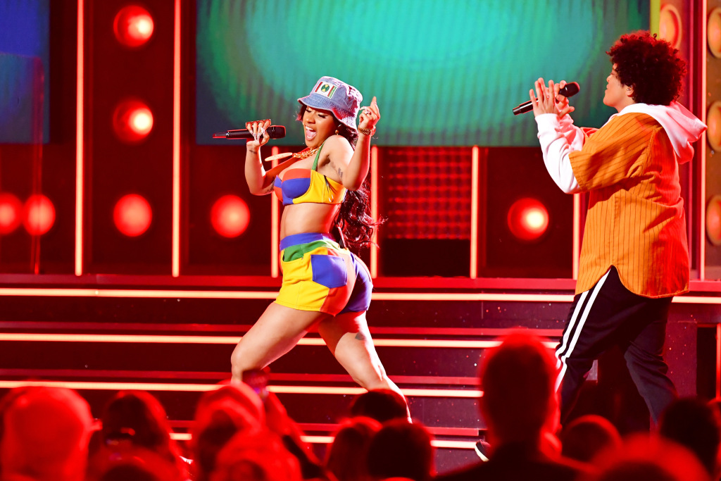 cardi b bruno mars grammys Offset Was Caught Thirsting Over Cardi Bs Grammys Performance & the Video Is a Must See