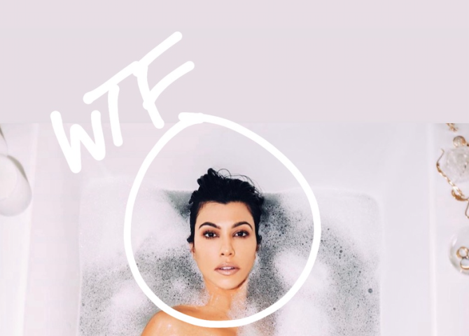 head kourtney kardashian photoshop Kourtney Kardashian Is Being Trolled for This Photoshop Fail on Instagram