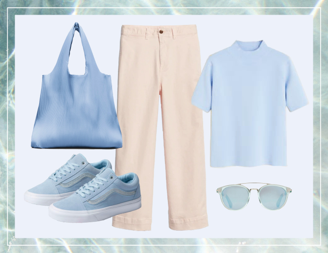 gap stylecaster look 1 5 Unexpected Spring Looks That Start With a Pair of Wide Leg Chinos and Look Cool as Hell