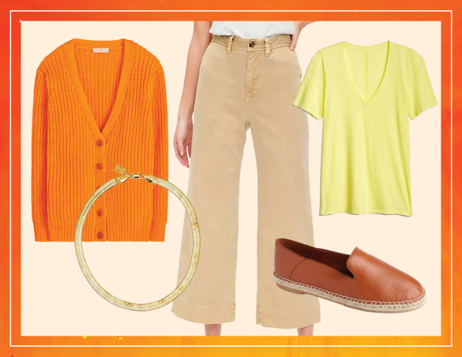 gap stylecaster look 2 5 Unexpected Spring Looks That Start With a Pair of Wide Leg Chinos and Look Cool as Hell
