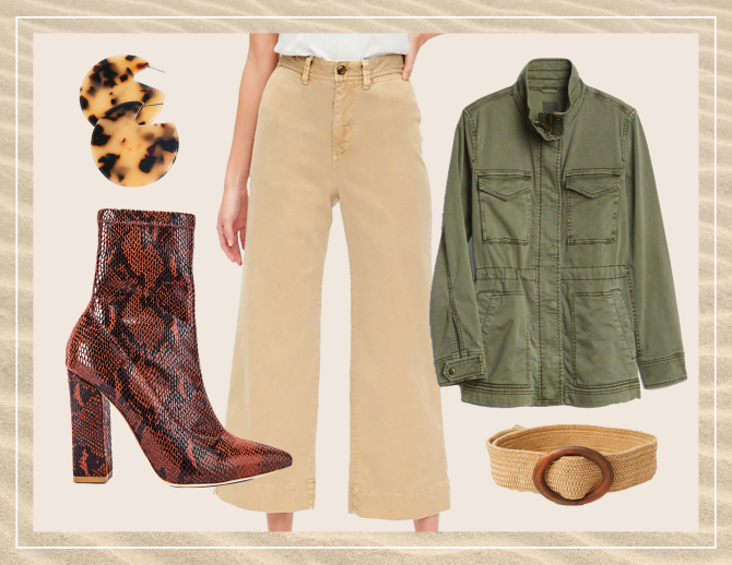 gap stylecaster look 4 5 Unexpected Spring Looks That Start With a Pair of Wide Leg Chinos and Look Cool as Hell