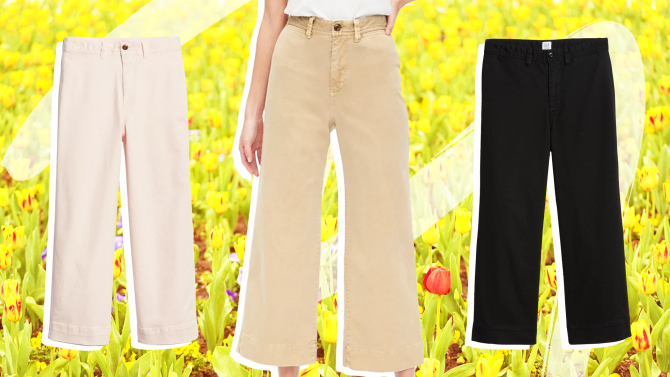 style caster gap 1 5 Unexpected Spring Looks That Start With a Pair of Wide Leg Chinos and Look Cool as Hell