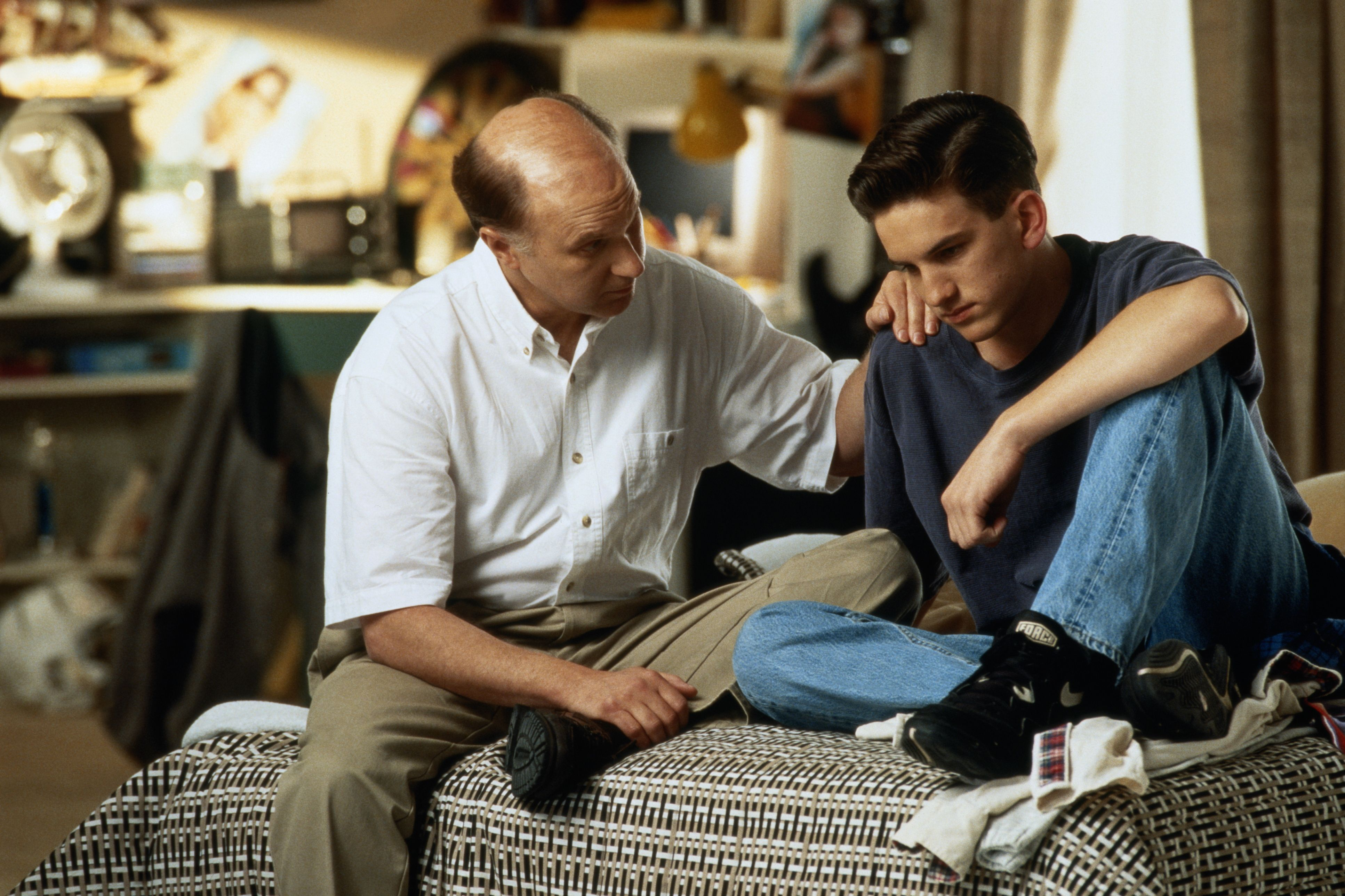 Image result for dad talking to teen son