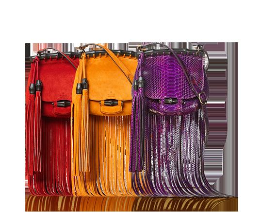 حقائب بالأهداب من غوتشي