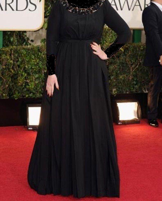 فستان واسع أسود