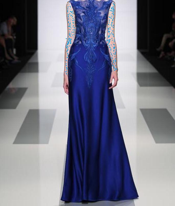 فستان أزرق ناعم
