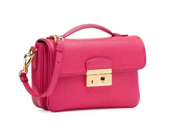 حقيبة صغيرة وردية من برادا