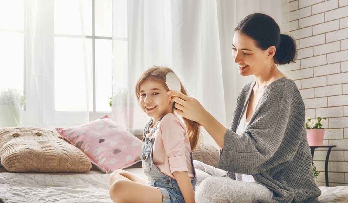 تنعيم شعر الاطفال